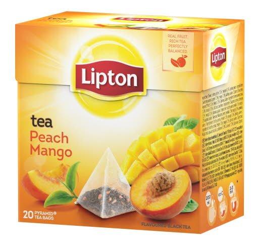 Lipton Peach Mango Tea, pyramid (utan kuvert) 12 x 20 påsar