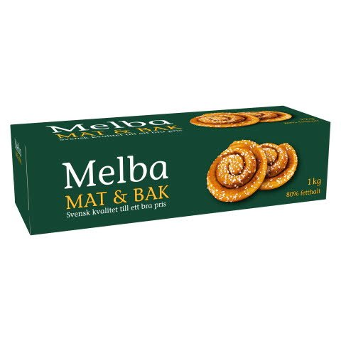 MELBA Mat- och Bakmargarin 80% 10 x 1 kg  -