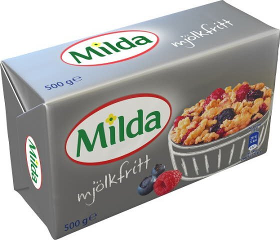 Milda Mat- och Bakmargarin, Mjölkfritt 24 x 0,5 kg