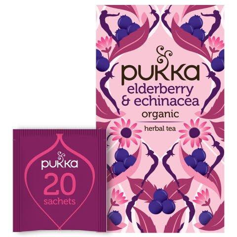 Pukka Fruktte Elderberry & Echinacea EKO 4 x 20 p