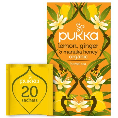 Pukka Örtte Lemon, Ginger & Manuka Honey EKO 4 x 20 p  -