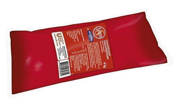 SLOTTS Ketchup Påse för dispenser 3 x 4 kg