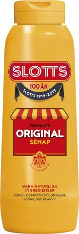 SLOTTS Senap Original flaska 12 x 450 gr