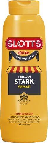 SLOTTS Senap Stark flaska 12 x 450 gr -