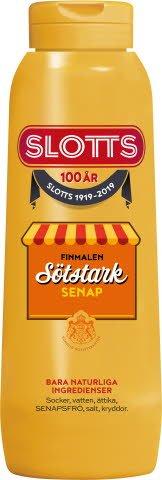 SLOTTS Sötstark Senap Original flaska 12 x 450 gr -
