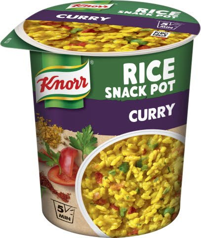 Snack Pot Rice Curry, 8 x 87 g