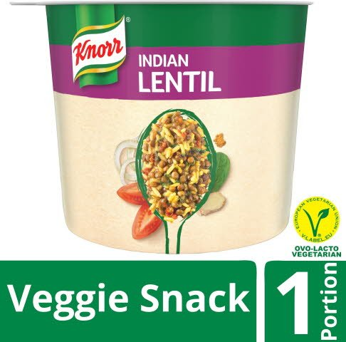 Snack Veggie Snack Indian Lentil, 6 x 72 g