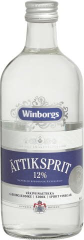 WINBORGS Ättiksprit 12% , 8 x 0,5 L