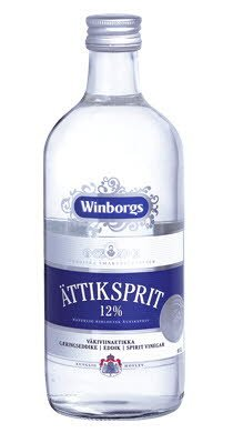 WINBORGS Ättiksprit 12%, 8 x 1 L