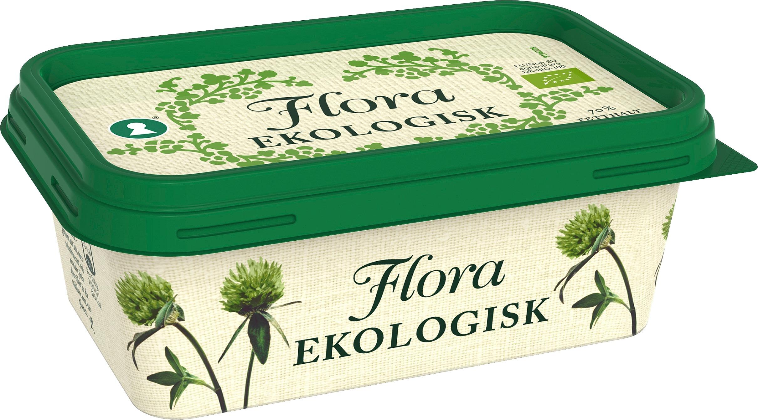 Flora Ekologisk Smörgåsmargarin 16 x 400 g  - Flora är bredbart direkt från kylen och går även att steka i och baka med.