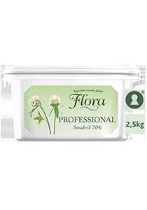 Flora PROFESSIONAL Smörgåsmargarin, storbytta 1 x 2,5 kg  - Flora är bredbart direkt från kylen och går även att steka i och baka med.