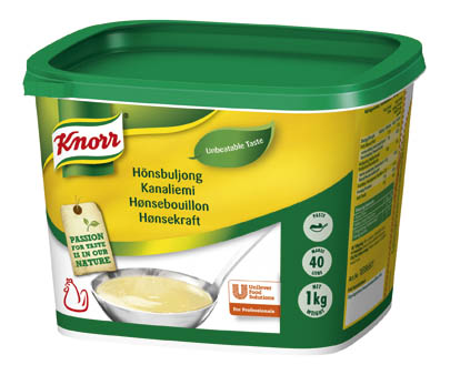Knorr Hönsbuljong, pasta 2 x 1 kg - En god hönsbuljong med naturligt kycklingfett och en välbalanserad smak av kyckling