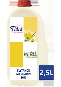 Milda Flytande Margarin 4 x 2,5 L