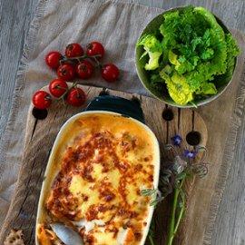 Italiensk grön pastalåda - klimatsmart mat