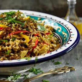 Matvetesallad från Marocko med ras el hanout