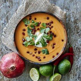 Sötpotatis soppa med lime