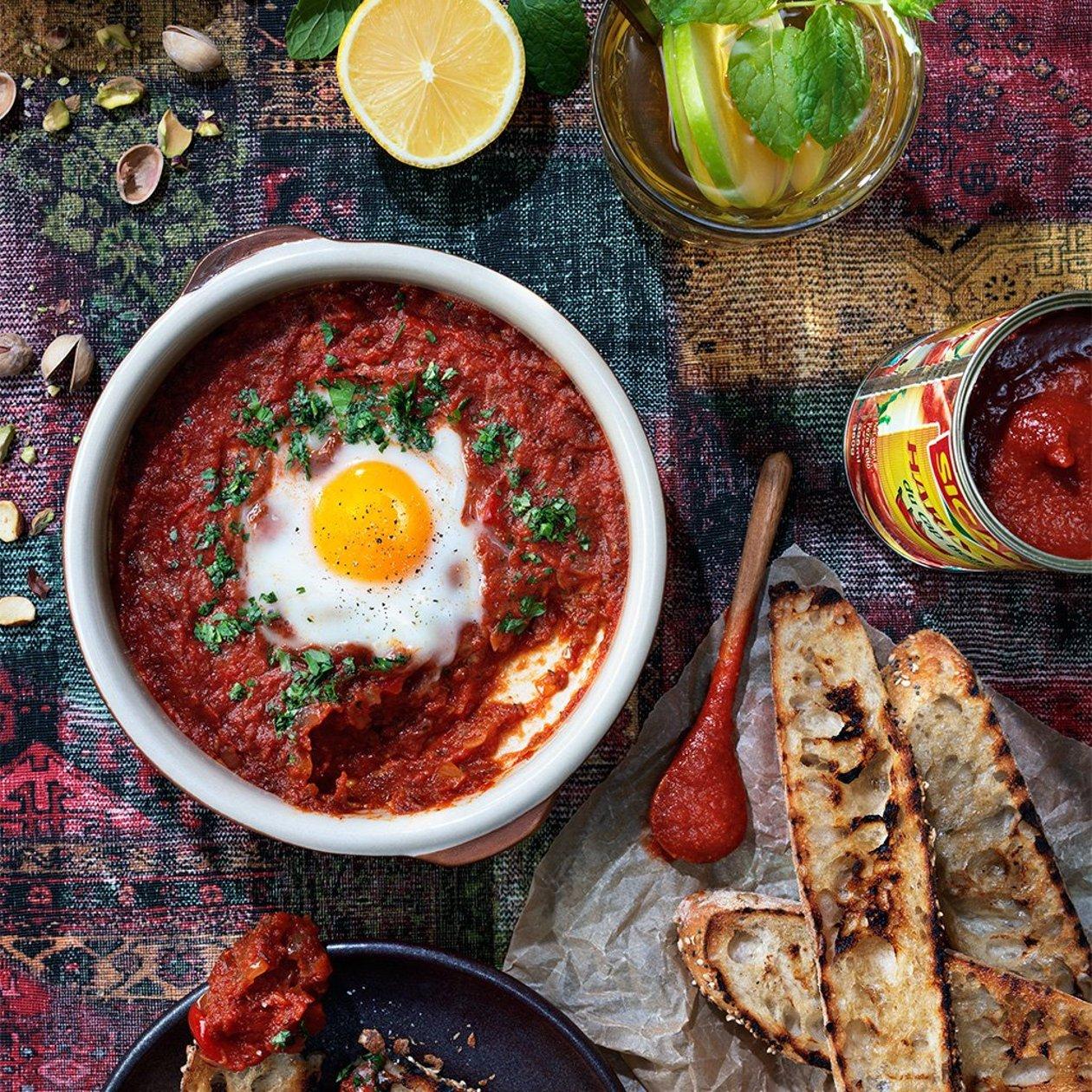 Chakchouka – ägg i tomatsås