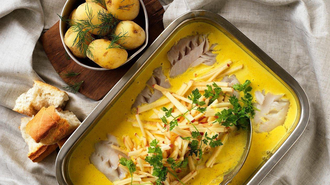 Curryfisk med äpple - klimatsmart mat