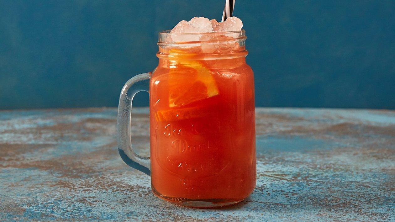 Iste med blodapelsin och persika