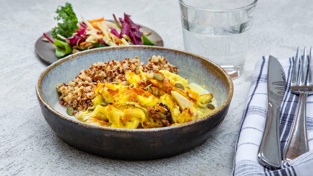 Kyckling med curry och blomkål