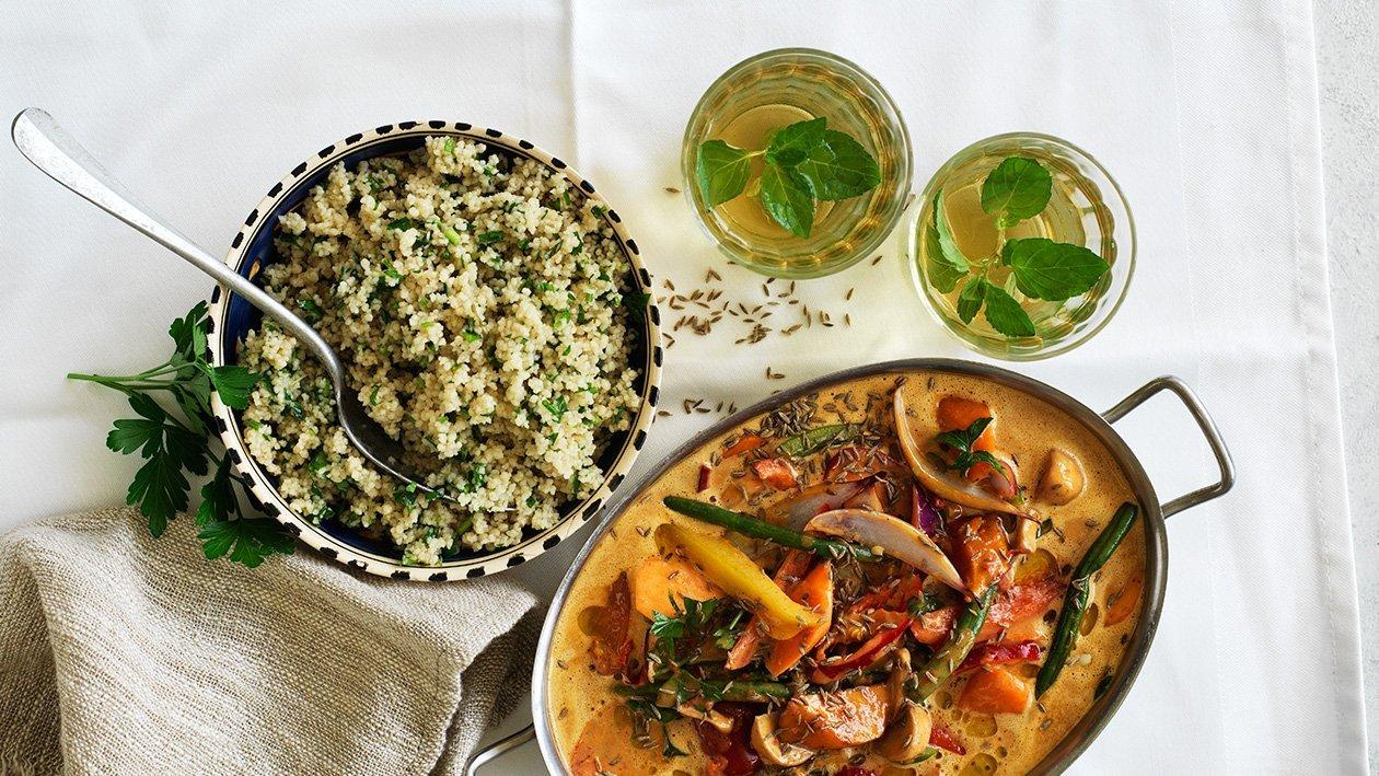 Mchuzi wa biringanya, vegetarisk masala