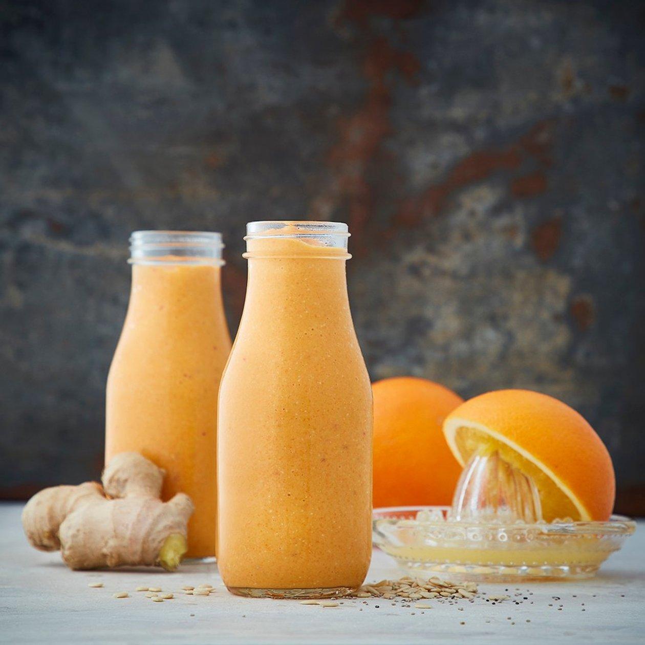 Morot & apelsin smoothie med chili