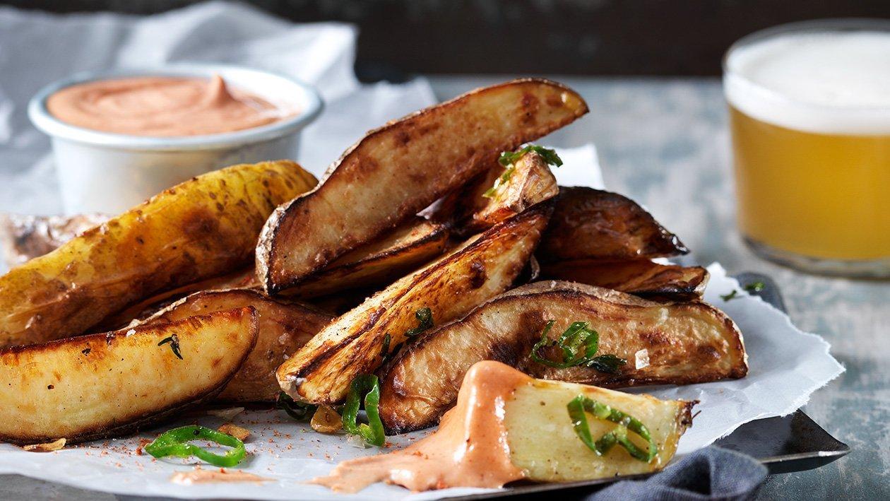 Papitas Fritas med spicy mayonnaise och potatiskrydda