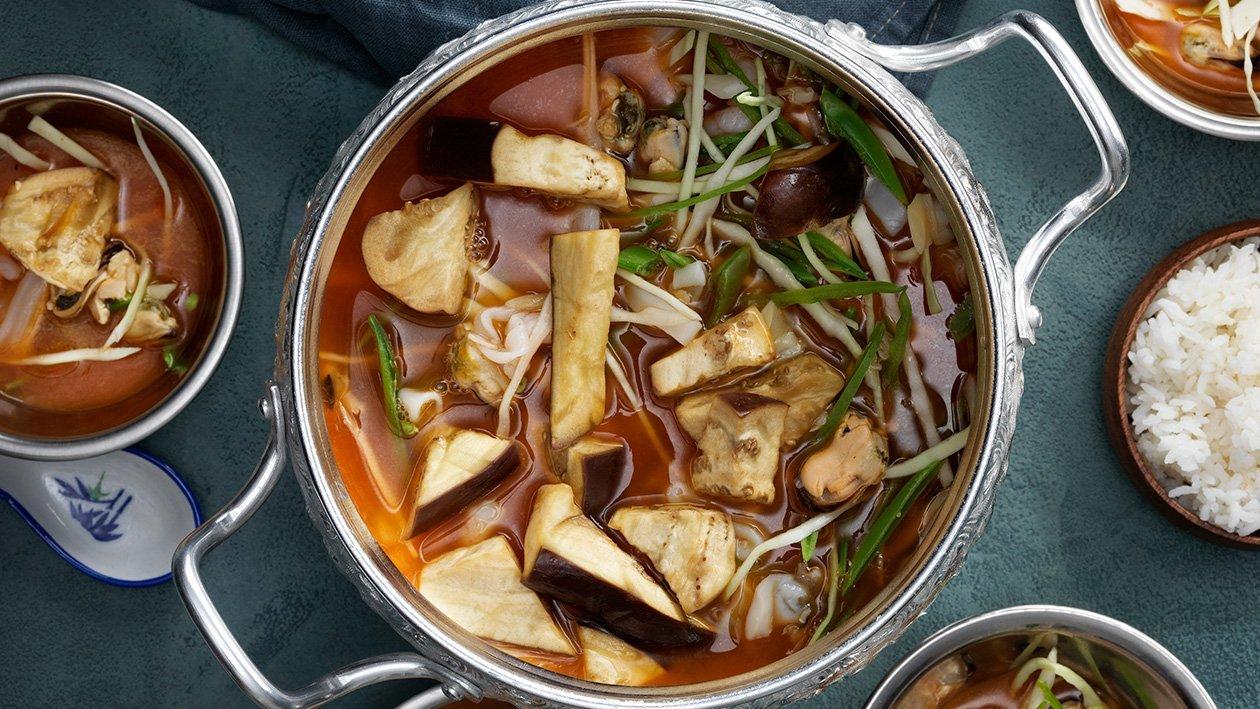 Röd thaicurry med skaldjur