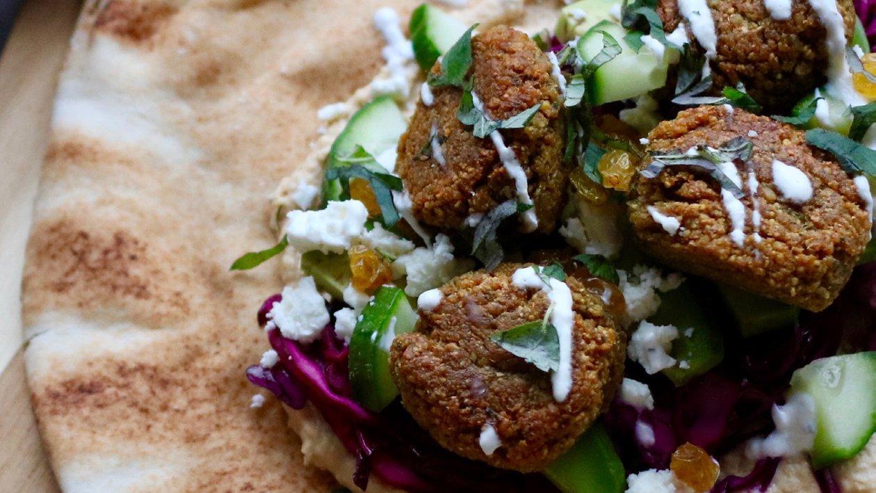 Wraps med falafel