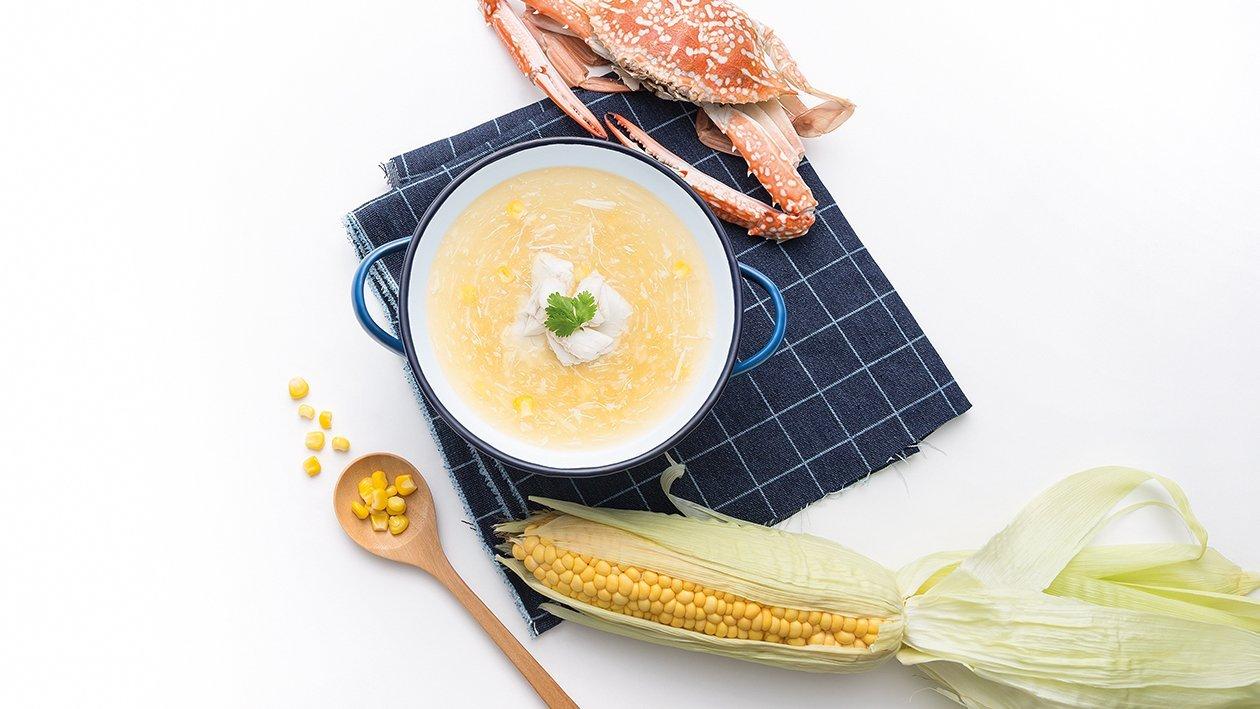 ซุปข้นข้าวโพดเนื้อปู