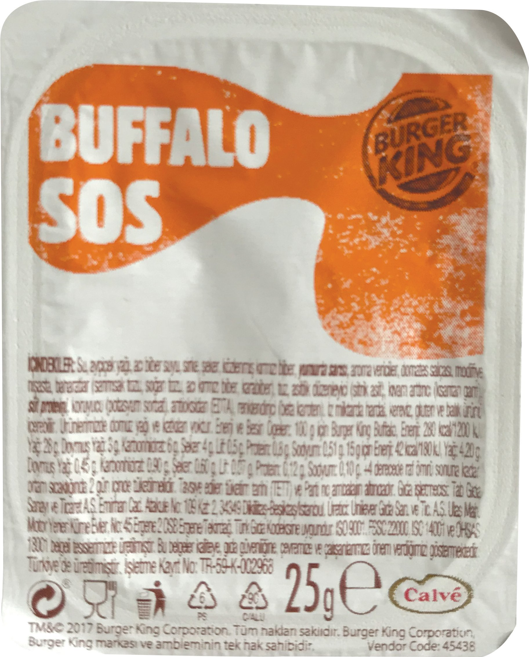 Burger King Buffalo Sos 25 Gr -