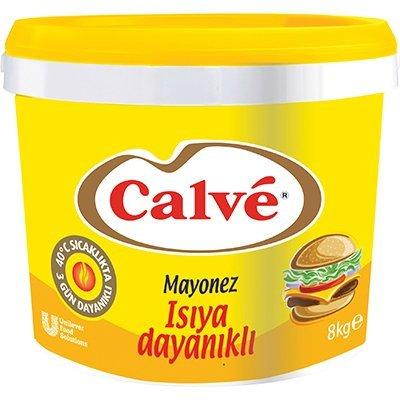 Calve Isıya Dayanıklı Kova Mayonez 8 kg