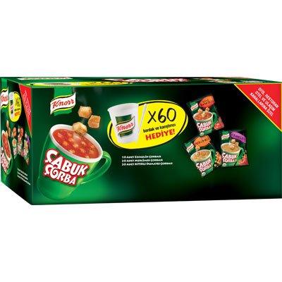 Knorr Çabuk Çorba Karıştırıcı ve Bardak Hediyeli 60x22gr -