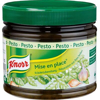 Knorr Mise En Place Pesto 340 g - Bulunması zor olan ve her zaman aynı lezzeti vermeyen otlar, Knorr Mise en Place ile yıl boyu elinizin altında.