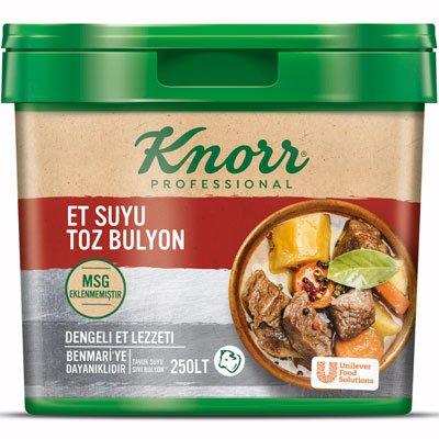 Knorr MSG Eklenmemiş Et Suyu Toz Bulyon 5 Kg
