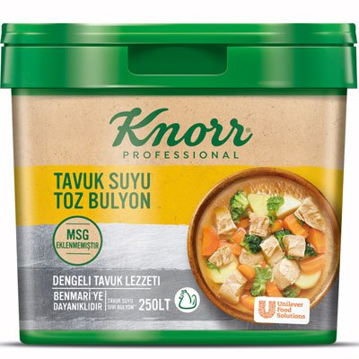 Knorr MSG Eklenmemiş Tavuk Suyu Toz Bulyon 5kg