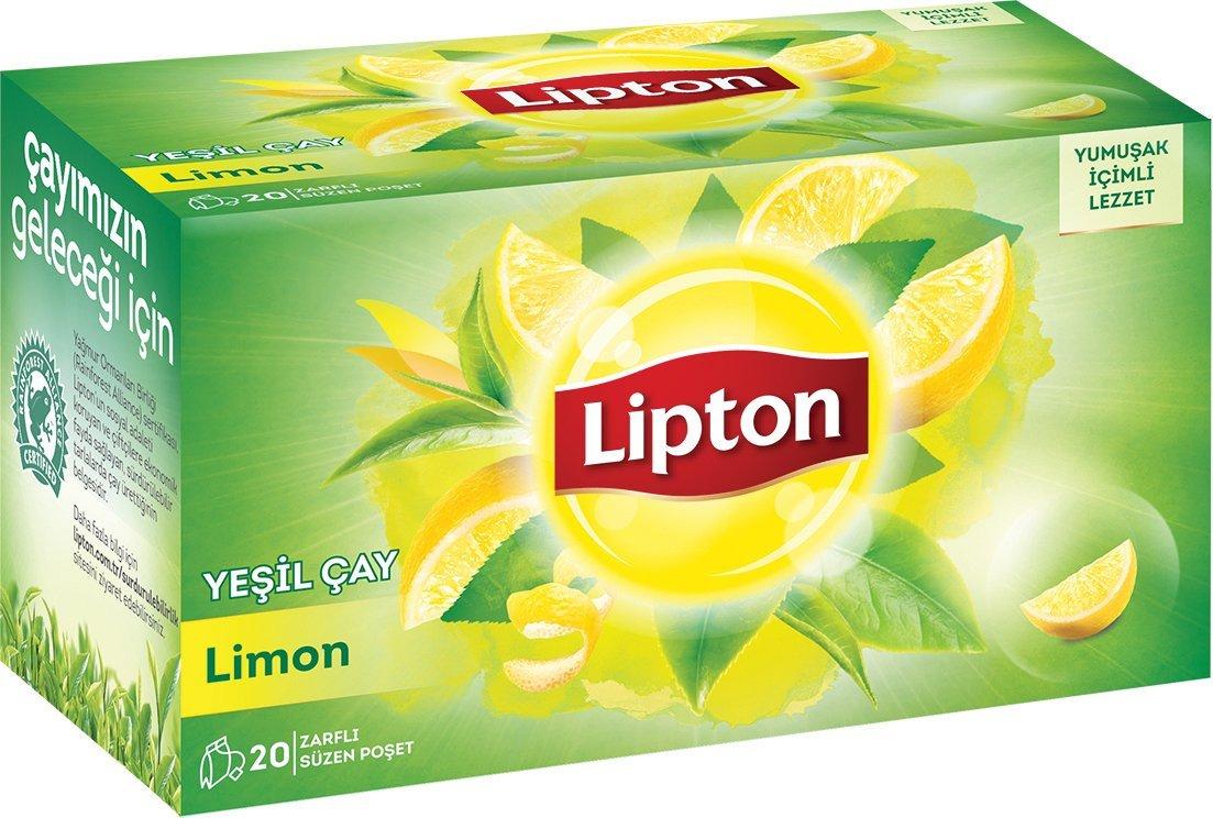 Lipton Berrak Yeşil Çay Limonlu 20'li