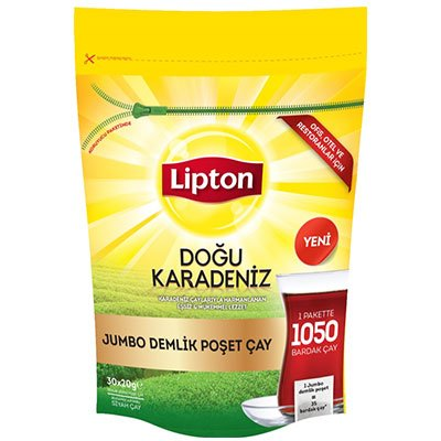 Lipton Doğu Karadeniz Jumbo Demlik Süzen Poşet Çay -