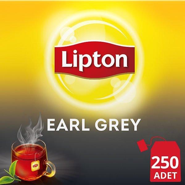 Lipton Earl Grey Bardak Poşet Çay 250'li -