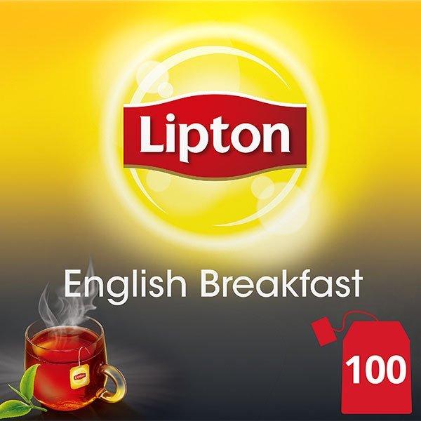 Lipton English Breakfast Bardak Poşet Çay 100'lü -