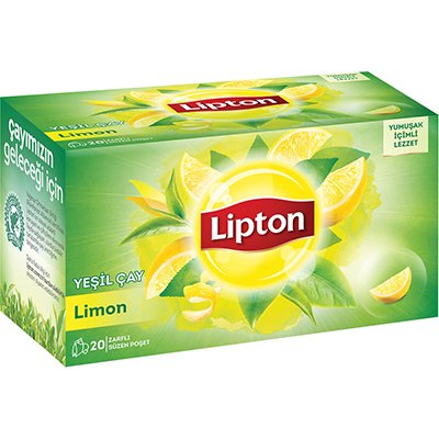 Lipton Limonlu Yeşil Bardak Poşet Çay 20'li -