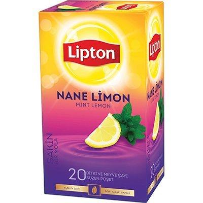 Lipton Nane Limon Bardak Poşet Çay 20'li -