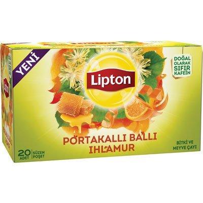 Lipton Portakallı Ballı Ihlamur Bardak Poşet Çay 20'li -
