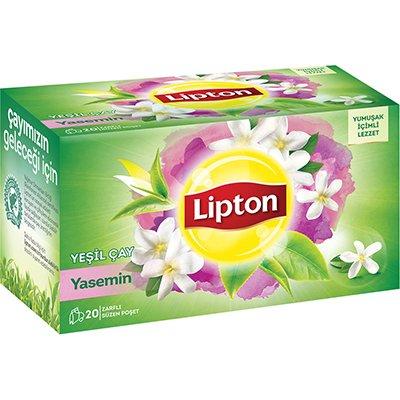 Lipton Yaseminli Yeşil Bardak Poşet Çay 20'li -