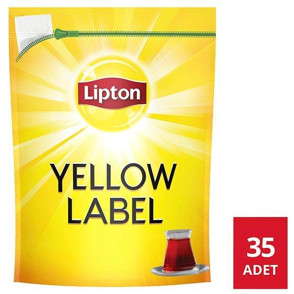 Lipton Yellow Label Jumbo Demlik Poşet Çay 35'li -