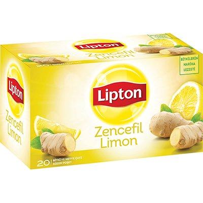 Lipton Zencefil Limon Bardak Poşet Çay 20'li