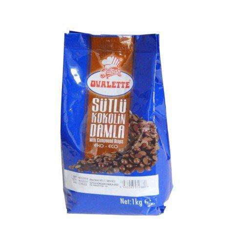 Ovalette Damla Eko Sütlü Çikolata 1 kg -