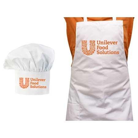 UFS Logolu Şef Önlüğü ve Şef Şapkası -