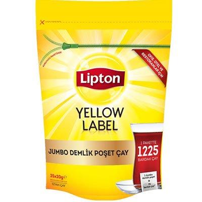 Yellow Label Tea Jumbo Demlik Süzen Poşet Siyah Çay -