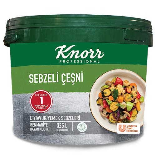 Knorr Sebzeli Çeşni 6.5 Kg - Knorr Sebzeli Çeşni ile yemekleriniz dört mevsim aynı kalite ve lezzette.